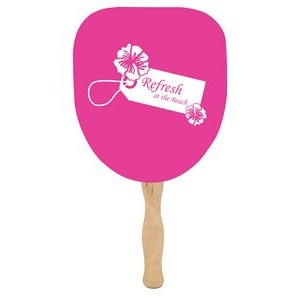Single Side Palm Leaf Shaped Fan