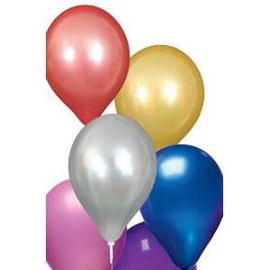 "Unimprinted 9"" Pearlized Natural Latex Balloon"