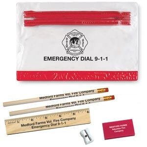 School Kit w/Pencils & Ruler