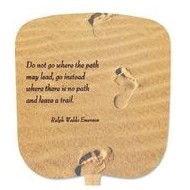 Trails In The Sand Stock Religious & Inspirational Fan