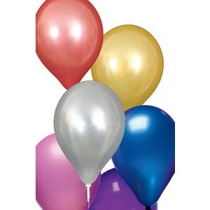 "Unimprinted 11"" Pearlized Natural Latex Balloon"