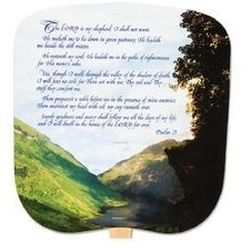 The 23rd Psalm Stock Religious & Inspirational Fan