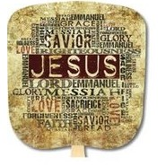 Jesus Our Saviour Stock Religious & Inspirational Fan
