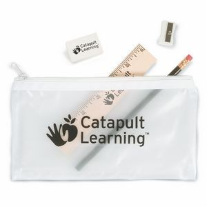 Translucent School Pouch w/School Supplies